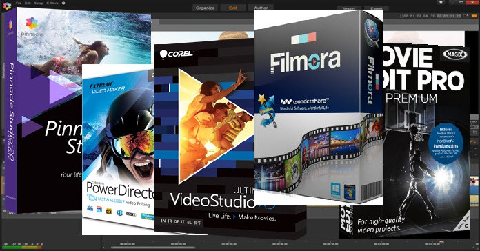 Montage of the best video editing software packages.