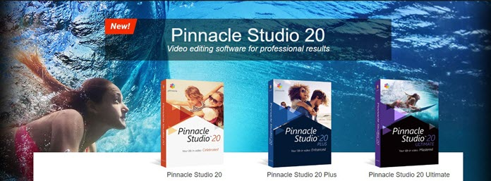 Pinnacle Studio product range