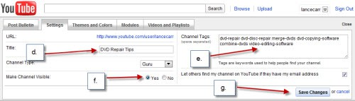 Getting Your Videos Online – Optimizing Your YouTube Channel